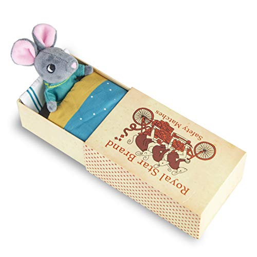 Foothill Toy Co. Matchbox Mouse - Playset with Plush Toy Mouse in a Box, -