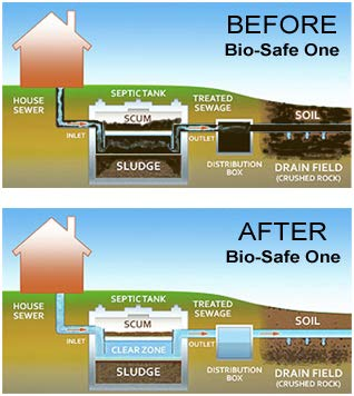 Bio-Safe One Level 4 Shock System- LVL4 Septic Tank Drain Field Restoration Cleaning System - Patented Bacterial Enzyme Based for All Septic Septic Systems, Cesspools, 4th Level Package by Bio-Safe One, Inc. (Image #9)