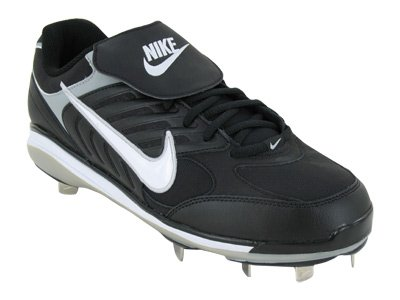 (Nike Men's NIKE AIR SLIDER CT MEN'S BASEBALL CLEATS 13 (BLACK/WHITE) )