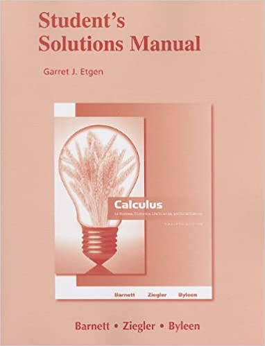 Student solutions manual for calculus for business economics life student solutions manual for calculus for business economics life sciences and social sciences 12th edition fandeluxe Images