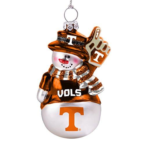 NCAA Tennessee Volunteers Glitter Snowman - Snowman Tennessee