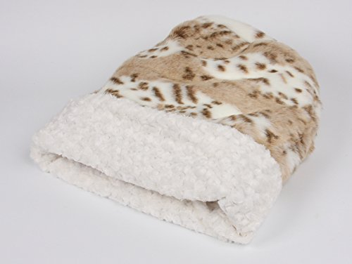 (Cuddle Cup Pet Bed - **NEW Arctic Leopard w/Ivory Curly Sue Inside Cuddle Cup by Susan Lanci Designs)