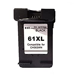 Remanufactured Ink Cartridge Replacement for HP 61XL 61 XL (1pc Black) - Ink Level Display Indicator CH561WN CH563WN High Capacity