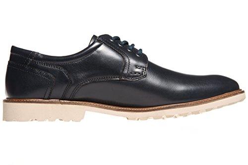Manz Business Schuhe in Übergrößen Blau 146050-03-047 Große Herrenschuhe