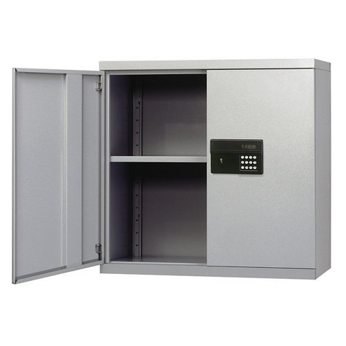 Sandusky Lee Keyless Electronic Steel Wall Cabinet - 30in.W x 12in.D x 30in.H, Putty, Model# KDEW3012-07