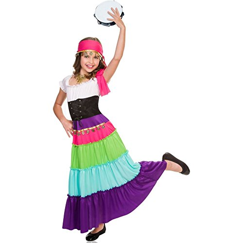 [Renaissance Gypsy Costume For Girls - Medium] (Gypsy Costumes Girl)