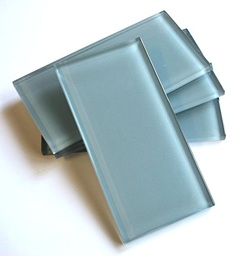 3x6 Light Blue Shiny Subway Glass Tile Wall Backsplash (SOLD BY THE PIECE) by Squarefeet Depot (Image #4)