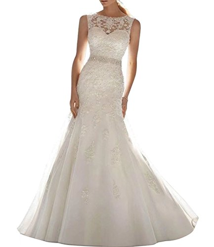 Alanre Sweetheart Beaded Lace Wedding Dress Bride Gown for sale  Delivered anywhere in USA
