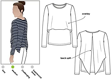 - Click for Other Sizes Available Sizes 04-16 Style Arc Sewing Pattern Kylie Knit Top