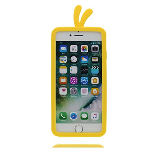 """iPhone 7 Coque, Cover Étui pour iPhone 7 (4.7""""), TPU Flexible iPhone 7 Case (4.7"""") 3D poulet chick Soft Housse Shell Dust Scratch Resistant & Bouchon anti-poussière"""