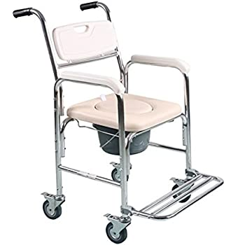 73ea81286d32a Tcare Multi-Function Transport Wheelchair - Can be Used as Shower Chair,  Padded Toilet