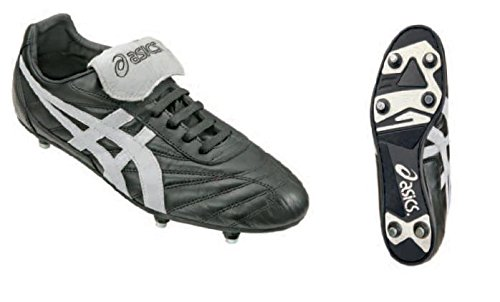 Asics Pelle Bianco Sla551 Scarpe Calcio Nero Uomo St Nippon Tomaia Professionali XqCXrzw7x