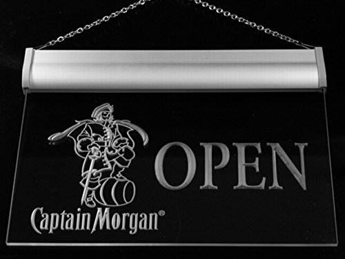 Captain Morgan Beer OPEN Bar LED Neon Light Sign Man Cave 053-R