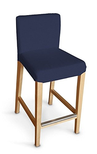 Dekoria Ikea Henriksdal bar stool cover - navy blue