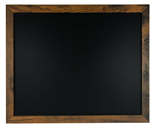"Rustic Wood Premium Surface Magnetic Chalk Board- 18""x22"" Perfect for Chalk Markers and Home Decor"