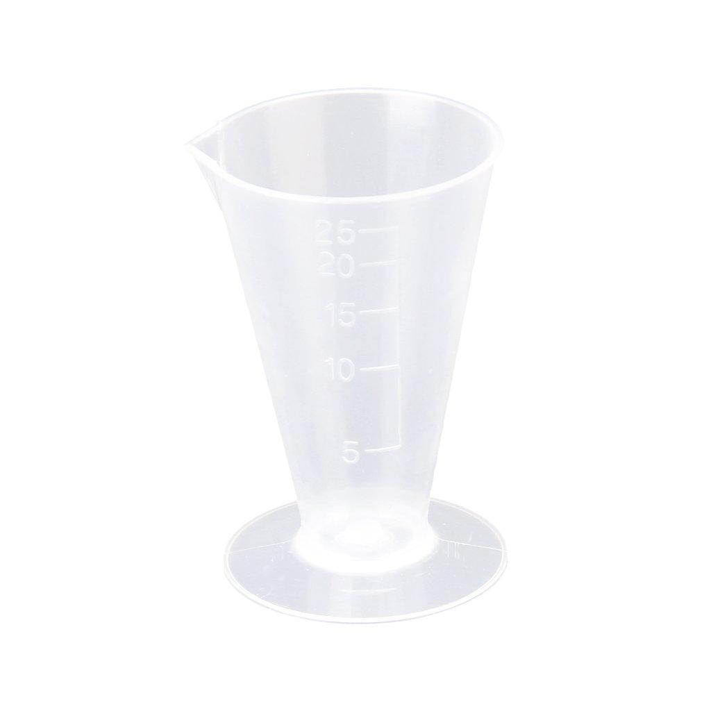 25ml Kitchen Laboratory Plastic Measurement Beaker Measuring Cup Generic SHOMPFL1327