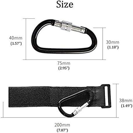 Paquete de 4 ganchos para cochecito de beb/é para bolsas de la compra con cerradura de seguridad STYLE 1 organizador de gancho de clip para mam/á