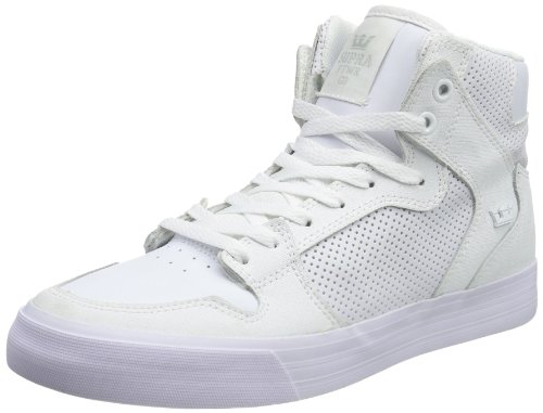 Black Tuf Leather Gunny Sneaker White Supra LC Vaider Micorperf qxzP6vY