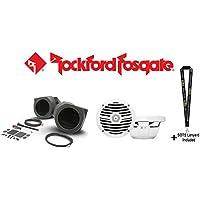 Rockford Fosgate RFRNGR-FSE 6.5 front lower speaker enclosures for select RANGER models with Rockford Fosgate RM1652 6.5 Marine Full Range Speakers and a SOTS Lanyard