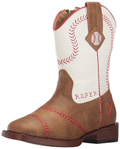 Roper Boys' Baseball, Tan, 8 M US (Girls Baseball Boots)