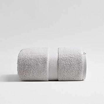 Lxryxx Toalla de baño de algodón Toalla de Playa Suave de Color Absorbente de Agua Toalla de Playa de Toalla Toalla de 80X160Cm, Gris B: Amazon.es: Hogar