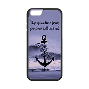 Customized Vintge Design Anchor Quotes Case for iPhone6 4.7inch (Laser Technology)
