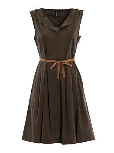 Woolrich Damen WWABI03864161 Braun Baumwolle Kleid A7aKFj8Tms