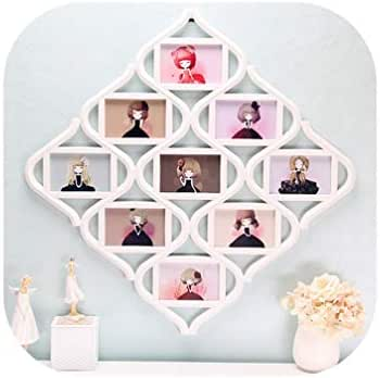 NA Photo Frames Chinese Knots Picture Display Birthday Wedding Gift Collage Home Room Wall Decor 55X55Cm