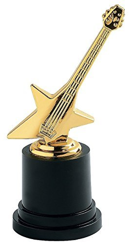 Fun Express Plastic Rock Star Trophies (12 Pack) Great Music Award By Fun -