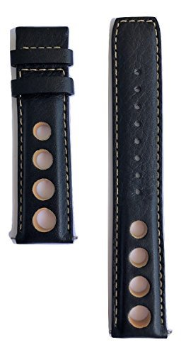 Tissot Men's PRS 516 Valjoux 20mm Black Leather Band for sale  Delivered anywhere in Canada