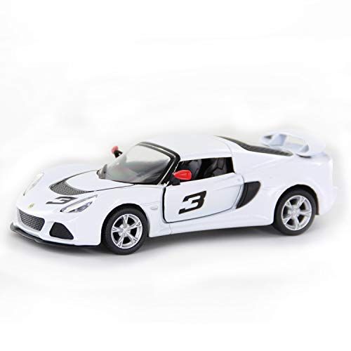 QuStars Lotus Exige S 1/24 Scale Diecast Model Sports Toy Pull Back Car (White)