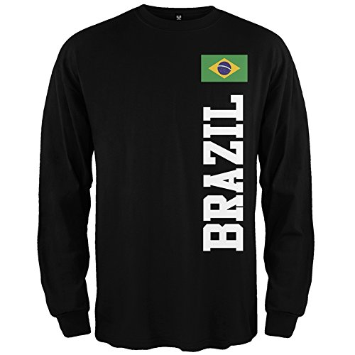 Old Glory - World Cup Brazil Men's Long Sleeve - Medium Black