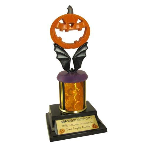 Hand Painted Halloween Pumpkins (Pumpkin Halloween Trophy - Limited Edition Hand Painted Halloween Trophies with Free Customized)
