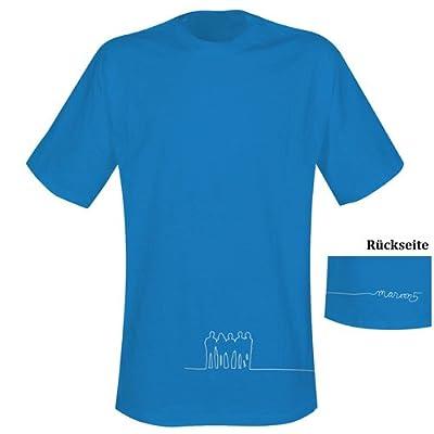Maroon 5 - T-Shirt 5 Silhouettes - blue - L