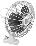 2 X SeaChoice 6 inch Oscillating 12V Fan