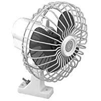 2 X SeaChoice 6 inch Oscillating 12V Fan