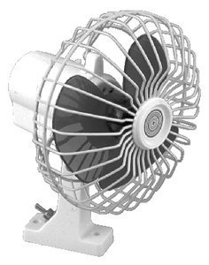(2 X SeaChoice 6 inch Oscillating 12V Fan)