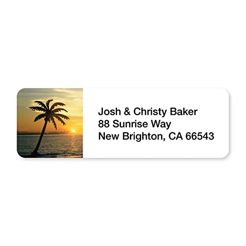 Tropical Golden Sunset Set of 215 Sheeted Address Labels ()