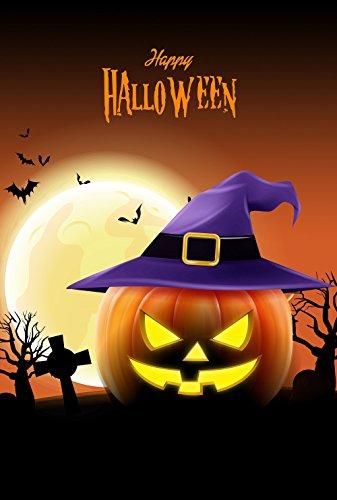 Fall Yard Decoration (Happy Halloween Pumpkin Garden Flag 12.5 x 18 Two Sided Fall Yard Decoration)