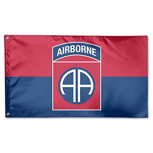 Wream Of The United States Army 82nd Airborne Division 3 x 5 Flag - Brass washer Vivid Color And UV Fade Resistance ()