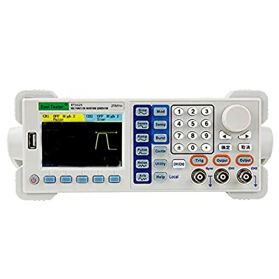 Two-channel Function/Arbitrary Waveform Generator, ET3325 25MHZ Signal Generator Counter Accurate, Stable And Of Low Distortion 200-240V