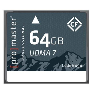 - Promaster Compact Flash 64GB RUGGED Memory Card (6494)