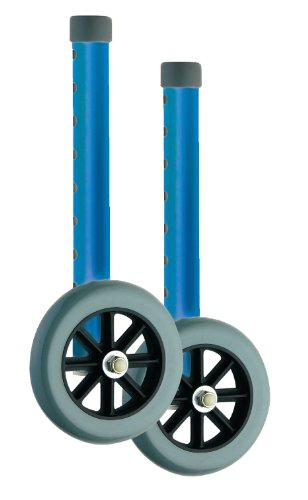 NOVA Medical Products  410bl Wheels for 4080b/4080bw5, Blue, 5 Inch by NOVA Medical Products