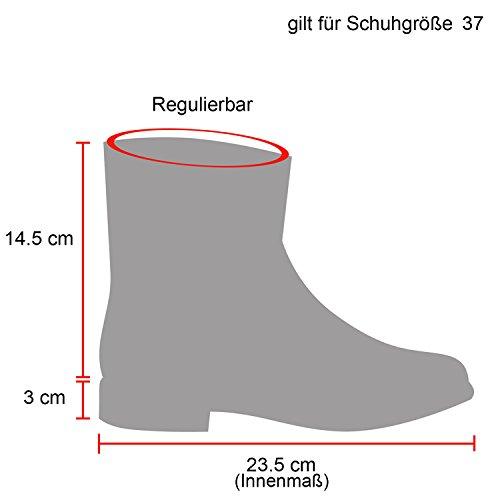 Stiefelparadies Damen Stiefeletten Worker Boots Profilsohle Flandell Rosa