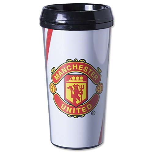 Manchester United FC Travel Mug - Mug Holds 16 Ounces - Hot and Cold Beverages - Official English Premier League Product - Travel Mug makes a Great  - Perfect for Soccer and Football League Fans - Manchester United FC Travel Mug by no!no!