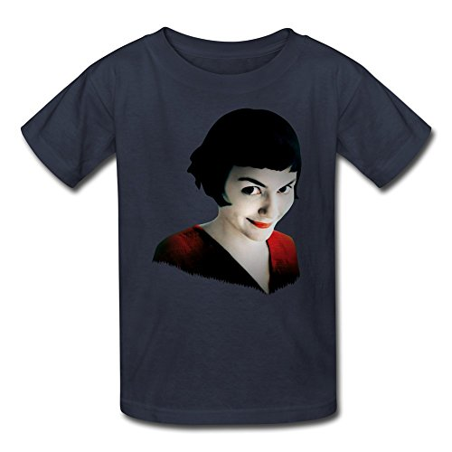 JeFF Kid's Amelie Poulain O-neck Young Boys' And Girls' Unisex Tee Shirt Small Navy (US Size)]()