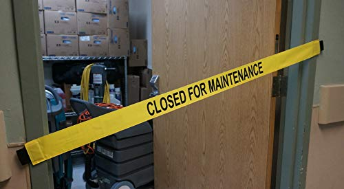 Closed for Maintenance Signs with Magnetic Ends - Fits up to a 51