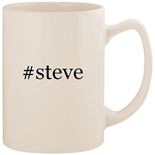 #steve - White Hashtag 14oz Ceramic Statesman Coffee Mug Cup