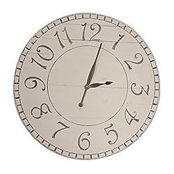 BrandtWorks AZ30GYBKTRX Wall Clock, 30 x 30, Distressed Gray/Blue