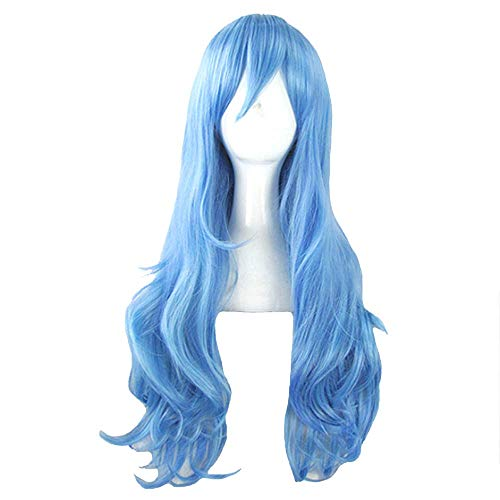 Front Lace Wig, Long Roll High Temperature Silk Wig Natural Female Fashion Personality Halloween Ball Role Playing